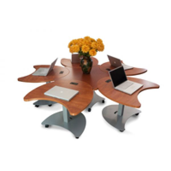 Design Journal Archinterious Quark Mobile Sit Stand Conference - Mobile conference table
