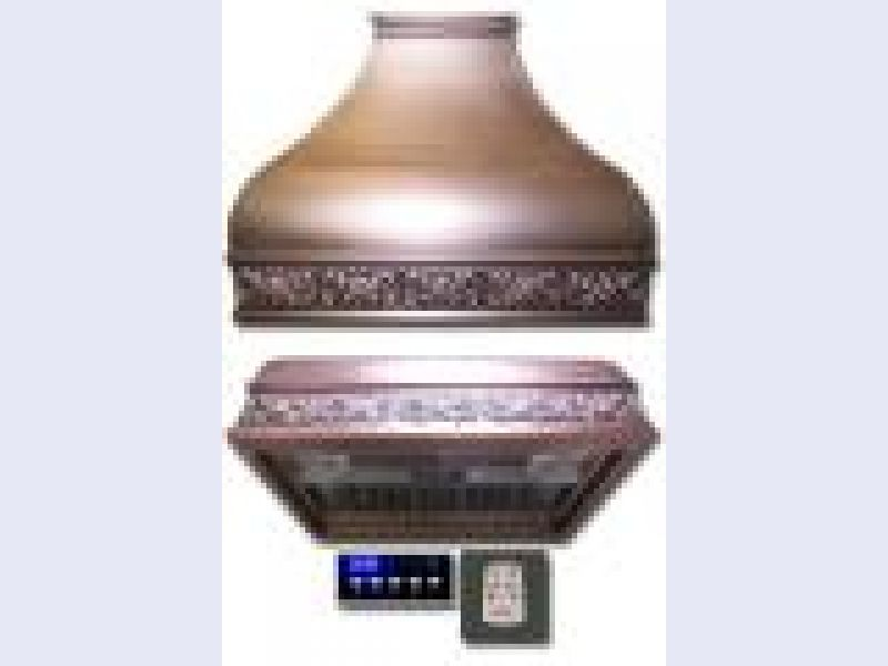 COPPER WALL MOUNT HOOD SERIES (with Built-In Hood)