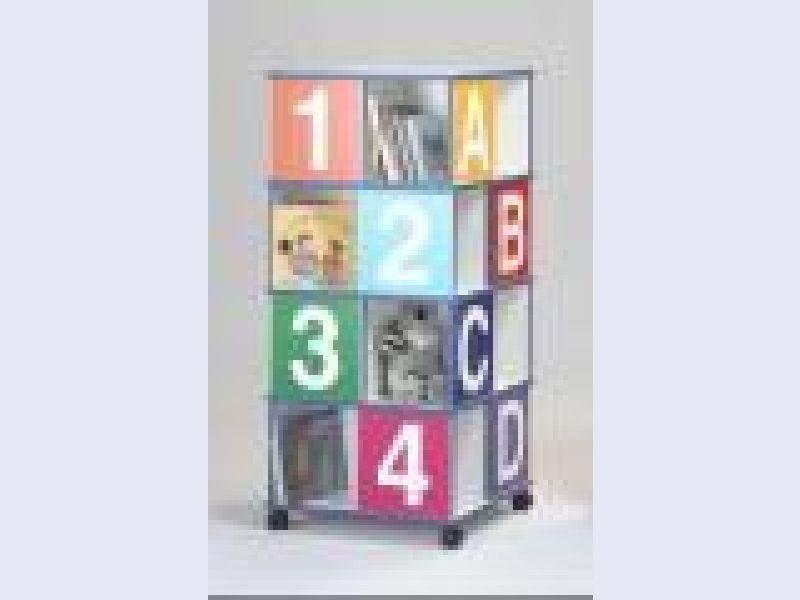 Four-Tier ABCD/1234 Book Caddy - 39406