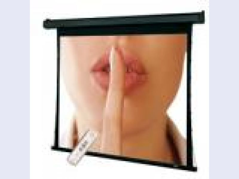 Quiet Projection Screens with Built-In Low Voltage