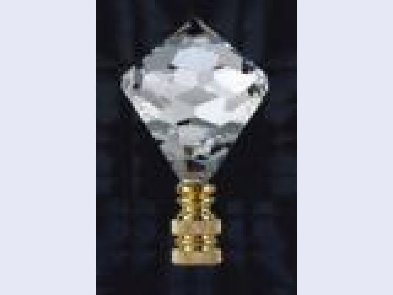 crystal jewel table lamp finial