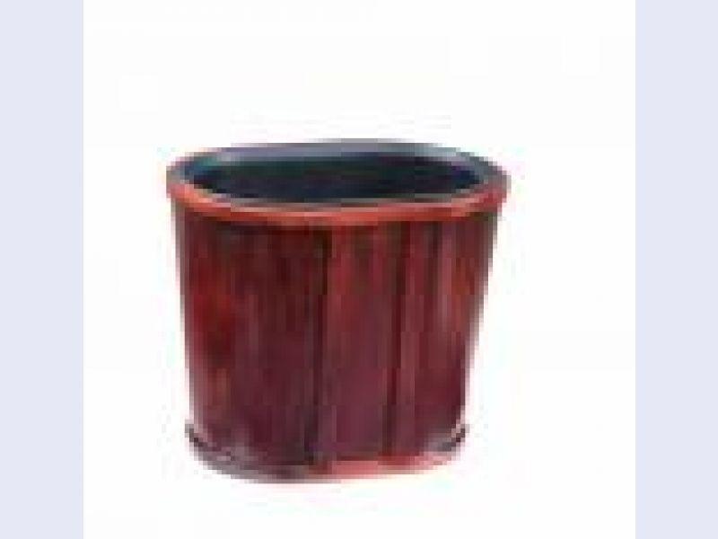 Oval Wastebasket-Mahogany