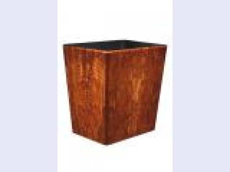 Connoisseur Wastebasket-Light Brown w/insert OX