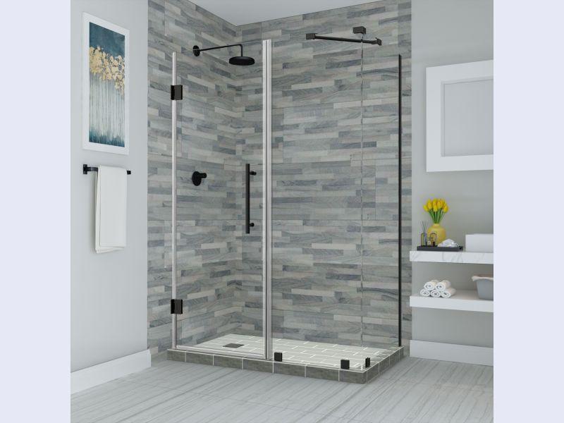 Aston Bromley Frameless Hinged Shower Enclosure