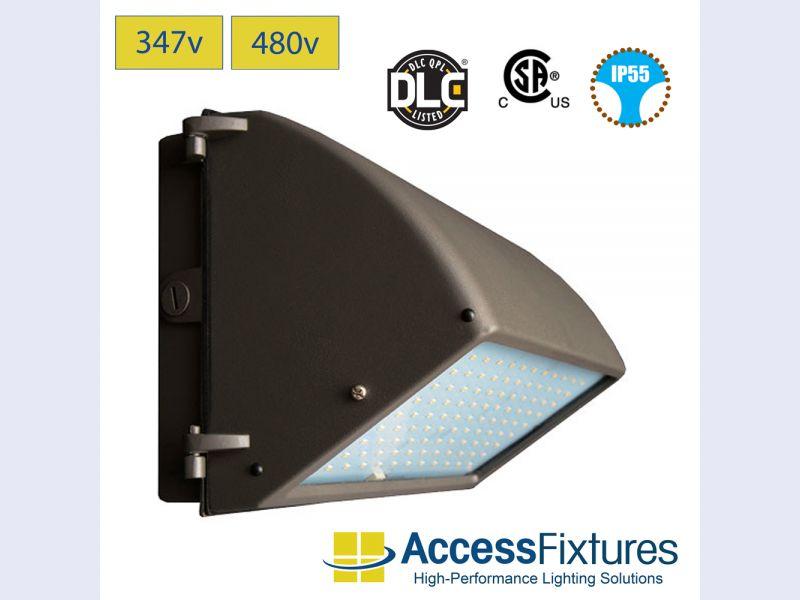 KLOO 44w LED Wall Pack 347/480v – 175w+ HID EQV, EXTREME LIFE
