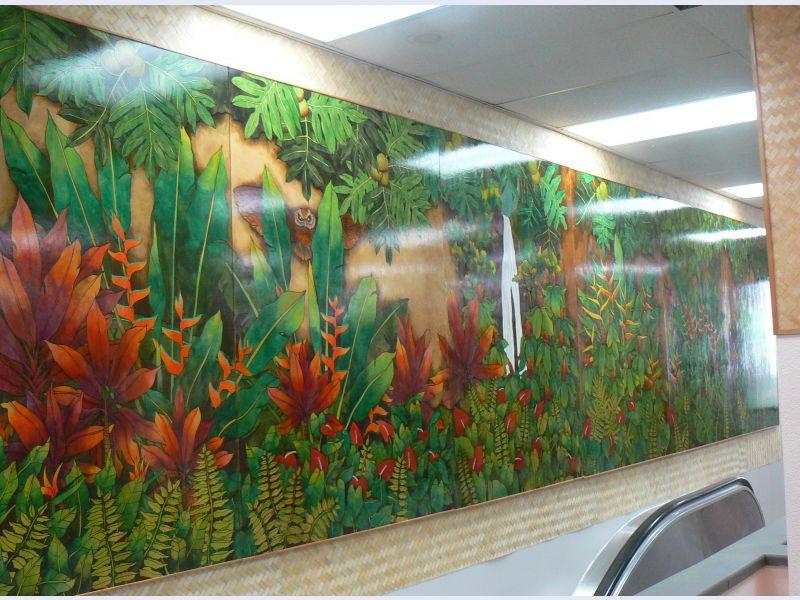Wall Mural on Wood