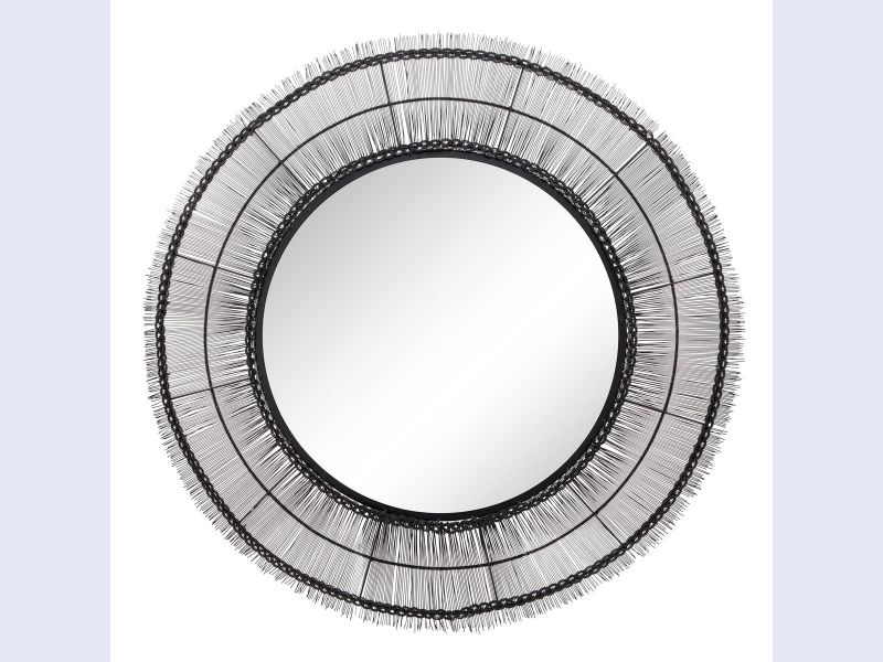 Black Wire Wall Art With Mirror