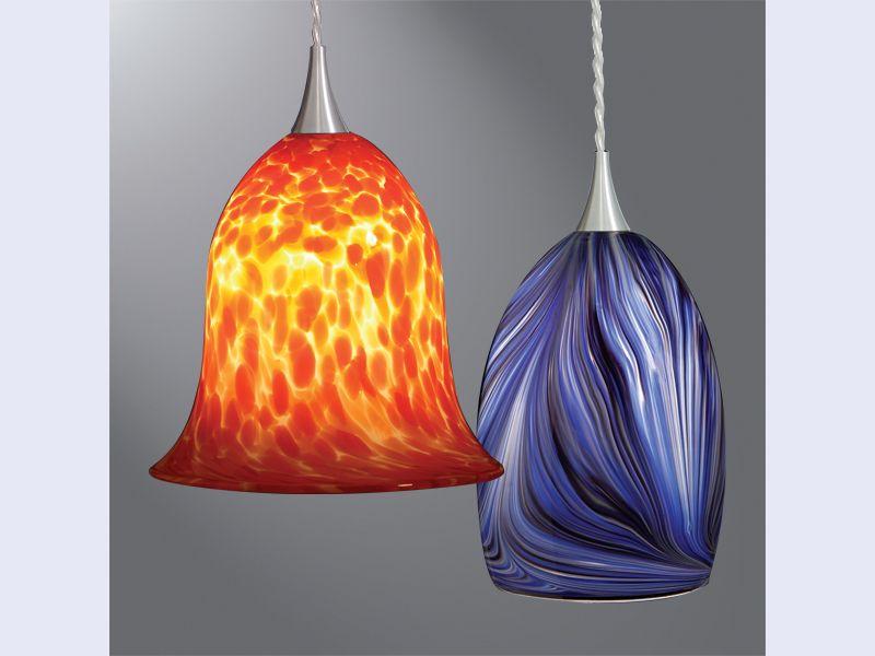 Halo Art Glass LED Pendants