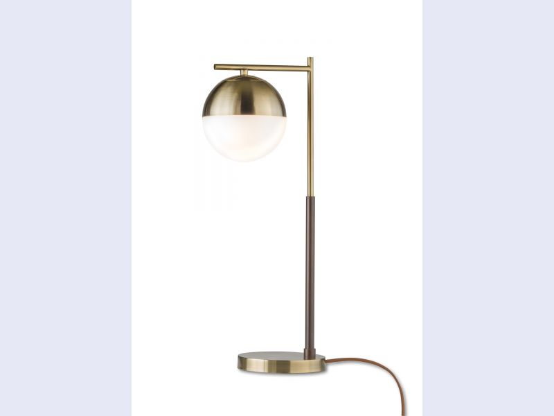 Globe Table Lamp Weathered Brass