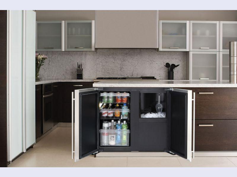 Modular 3000 Series 36 Custom Solid Door Refrigerator / Clear Ice Machine - 3018RF/3018CLR
