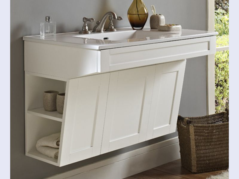 Shaker36 Wall Mount Vanity Ada Compliant By Fairmont Designs Wins 2014 Adex Awards