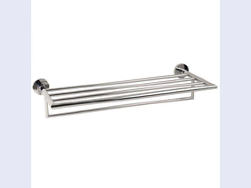 "GINGER Kubic 24"" Hotel Shelf Frame with Towel Bar"