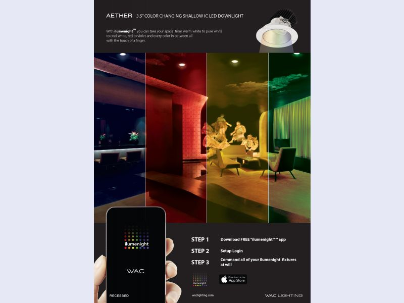 """Color Changing 3.5"""" IC-rated Aether Shallow Housing LED Down light"""
