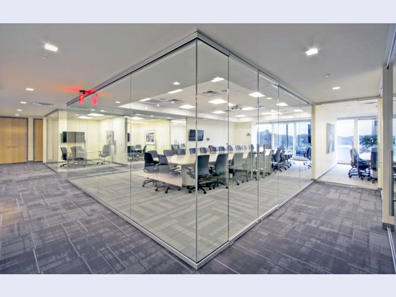 CRL Clear View Glass Wall Office System