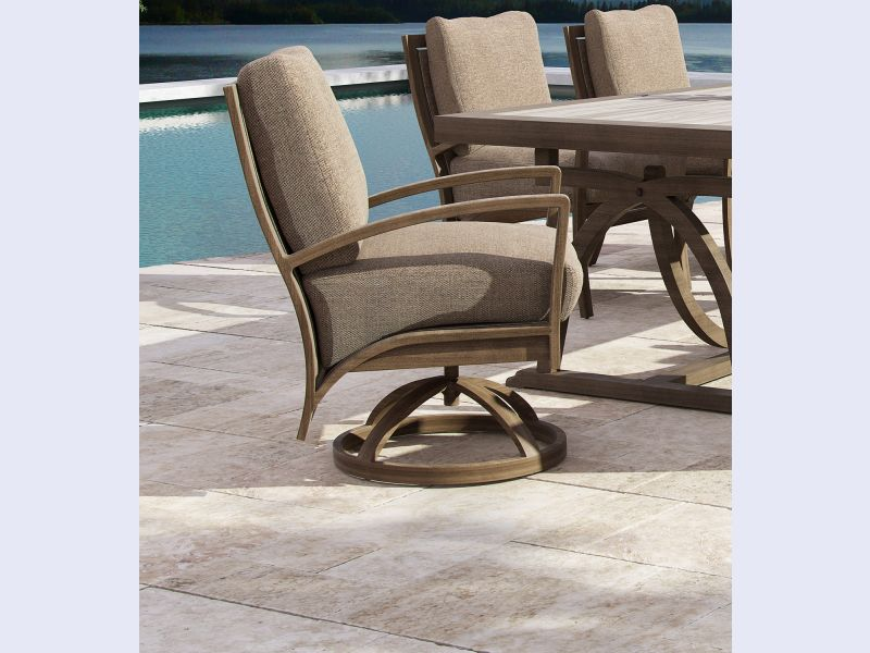 NAPOLI CUSHIONED SWIVEL LOUNGE CHAIR