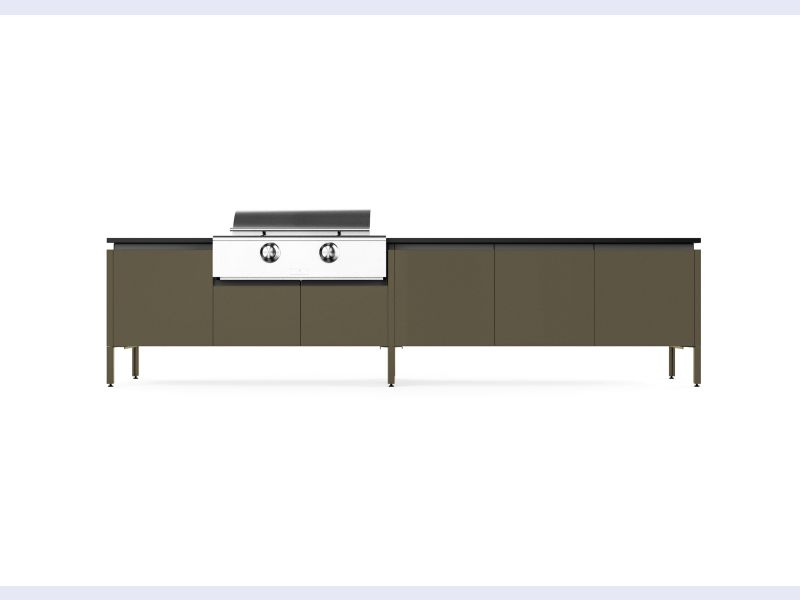 New Powder Coat Finishes Available for Brown Jordan Outdoor Kitchens Cabinetry