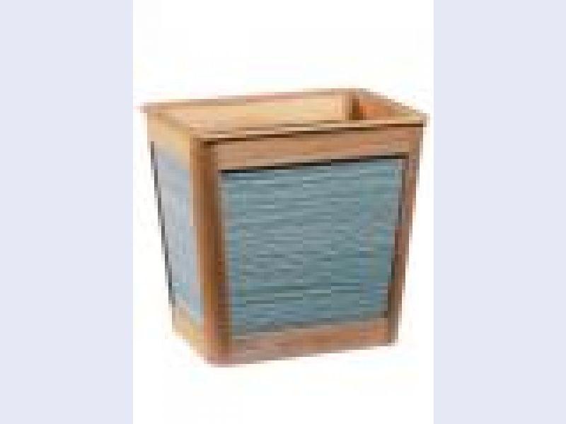 St. Lucia Wastebasket-Aqua