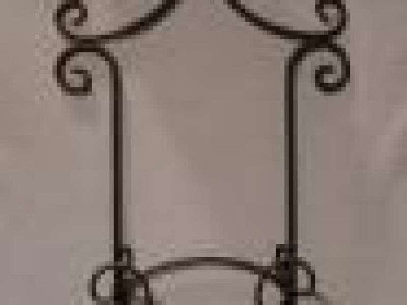 Wrought Iron Single Plate Wall Holder