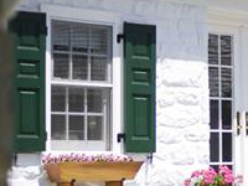 Cedar Shutters with Windowbox