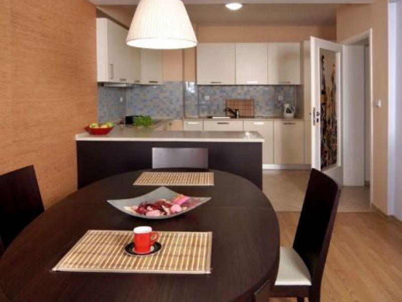 Open plan living room with kitchen and dining
