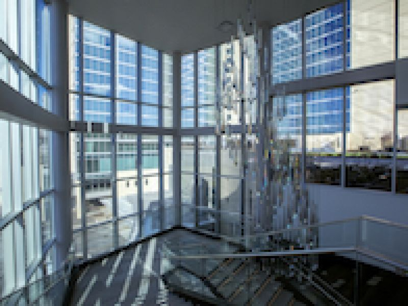 Loews Kansas City Hotel features aluminum framing systems by Tubelite, finishing by Linetec, glass by Viracon