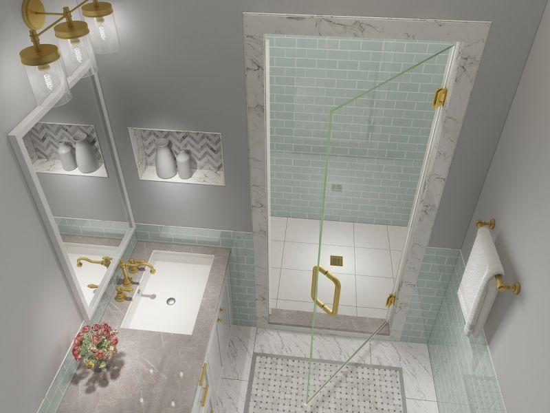 Kinkade XL Completely Frameless Shower Door Collection
