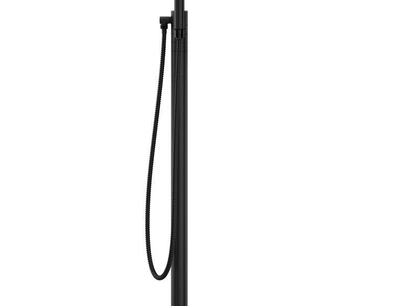 Tenet 2-Handle Tub Filler With Hand Shower in Matte Black