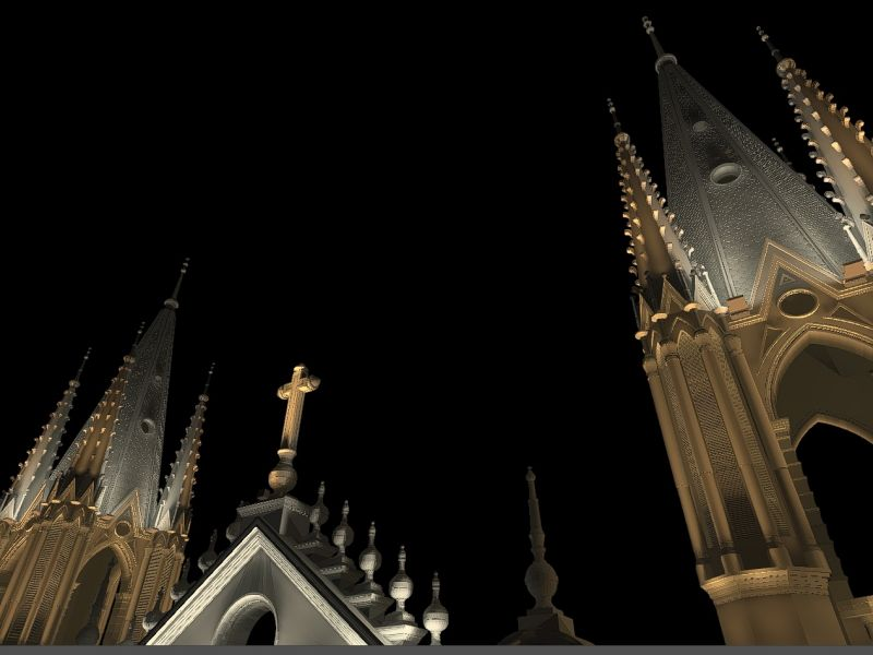 Monumental Architecture Lighting/ Saint Anne Cathedral - El Salvador