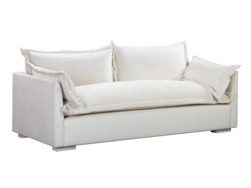 Freya Cream Velvet Sofa
