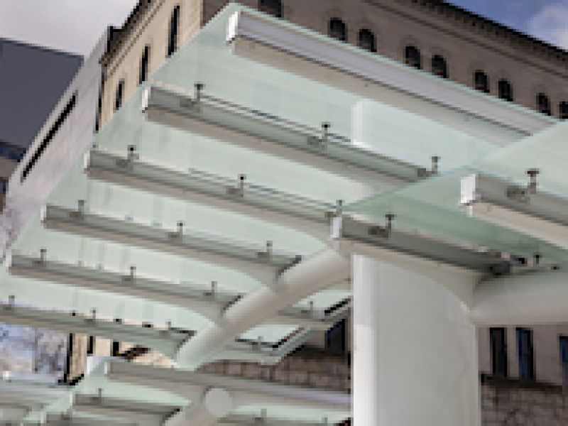 Port Authority\'s Transit Station\'s Glass Canopy Custom-engineered and Fabricated by EXTECH