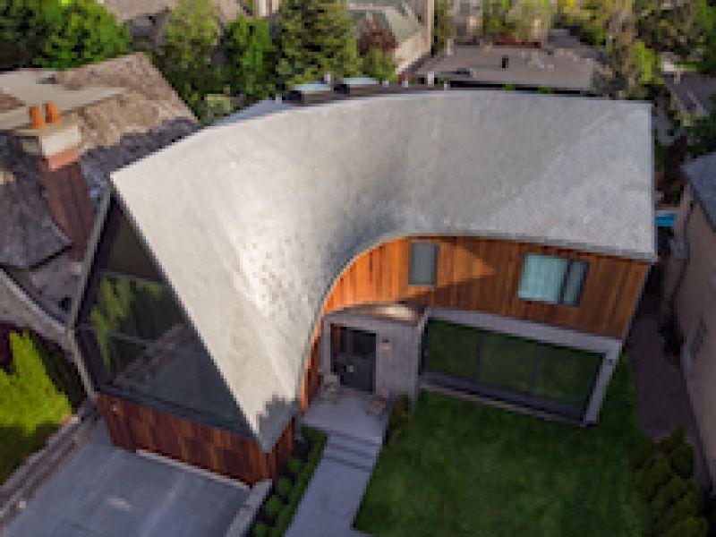 Bézier Curve House\'s Imaginative Dragon-scale Roof Design Realized with RHEINZINK Zinc Panels