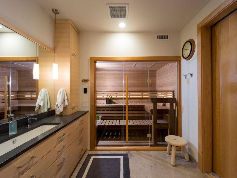 A Sauna can Transform a Bathroom into a Wellness Spa