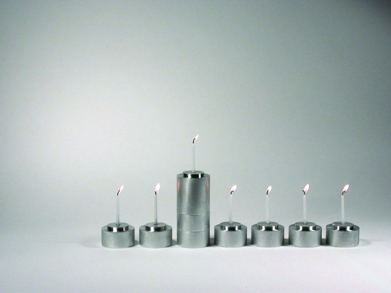 Shine - Stackable Menorah Candle And Tealight Set