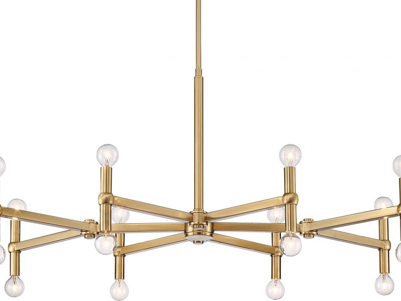 Possini Euro Marya Satin Brass 16-Light Chandelier