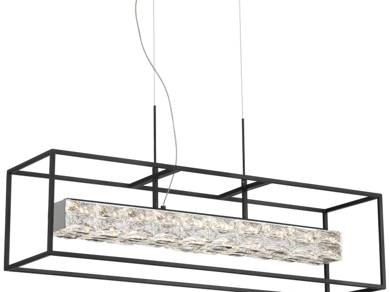Roxbury Black LED Kitchen Island Light Pendant
