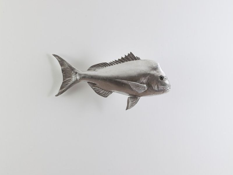 Silver Leaf Swimming Fish