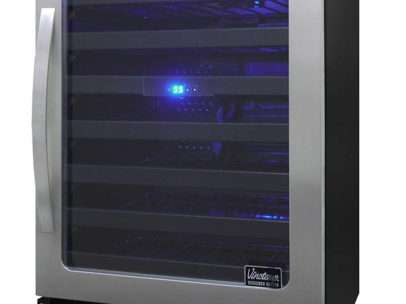 NEW: Vinotemp Designer Series 50-Bottle Seamless Wine Cooler