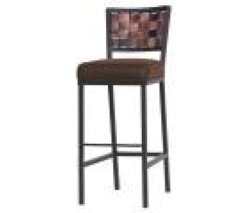 Rushton Barstool with Fired Copper