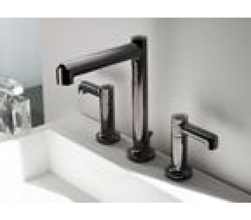 Museo Bath Faucet in Polished Graphite