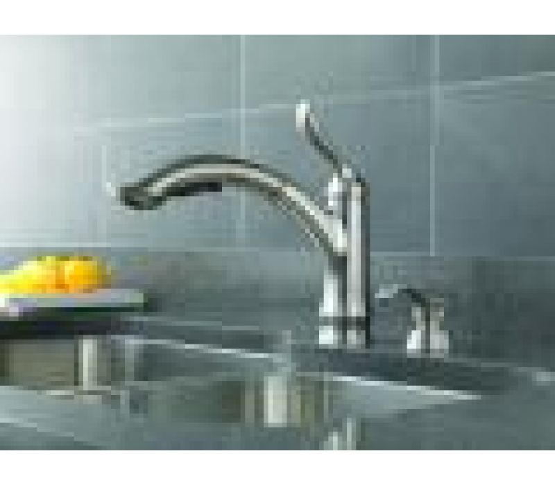 Linden¢â€ž¢ Pull-Out Kitchen Faucet by Delta'