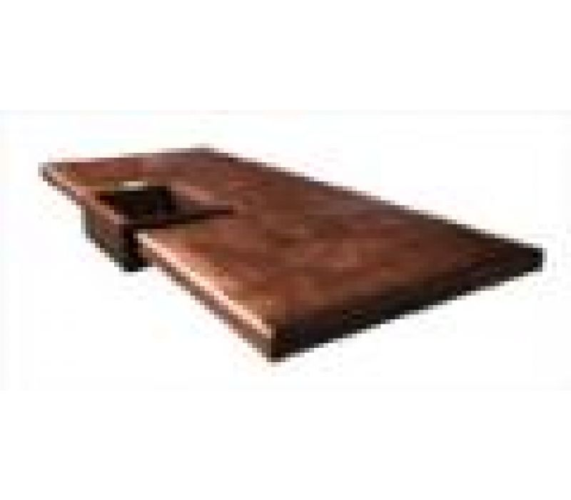 Reverse Hammered Copper Island Countertop
