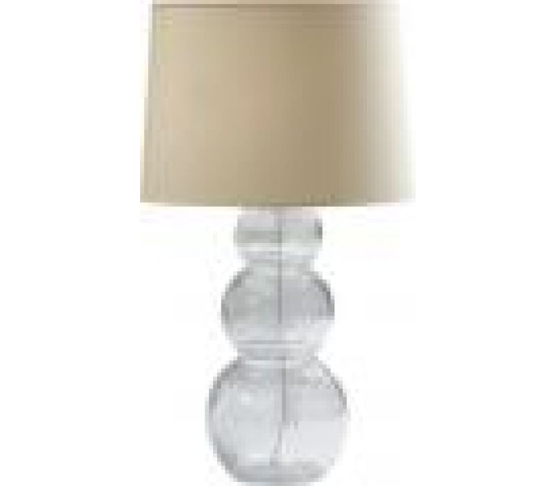 Seeded Glass Triple Ball Lamp
