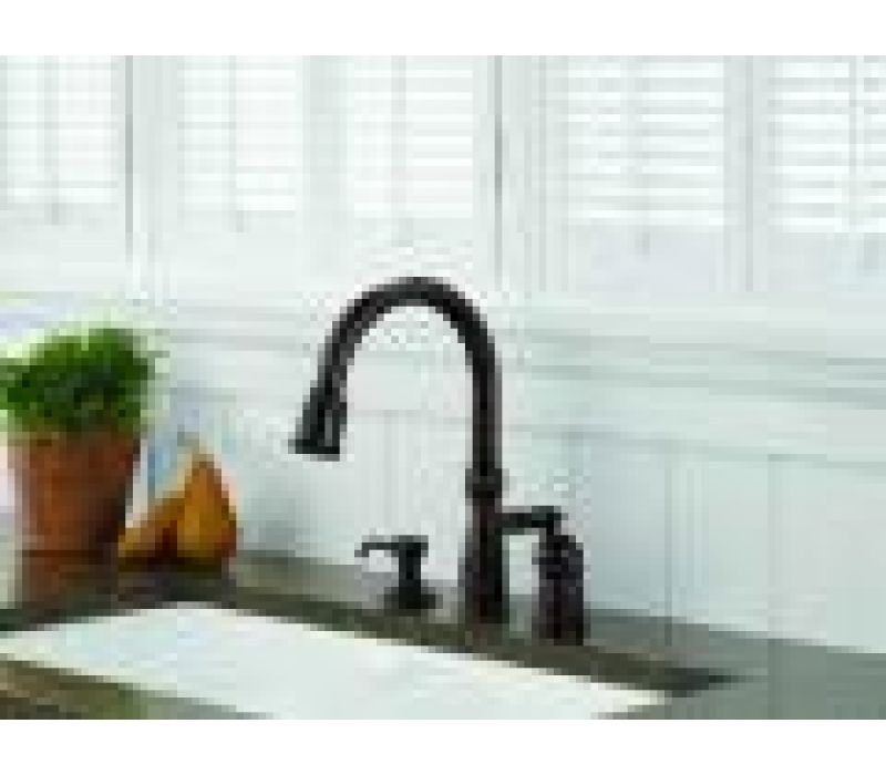 Delta's Victorian pull-down kitchen faucet