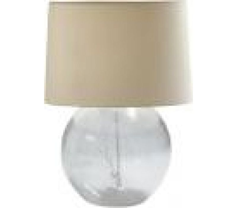 Seeded Glass Ball Lamp