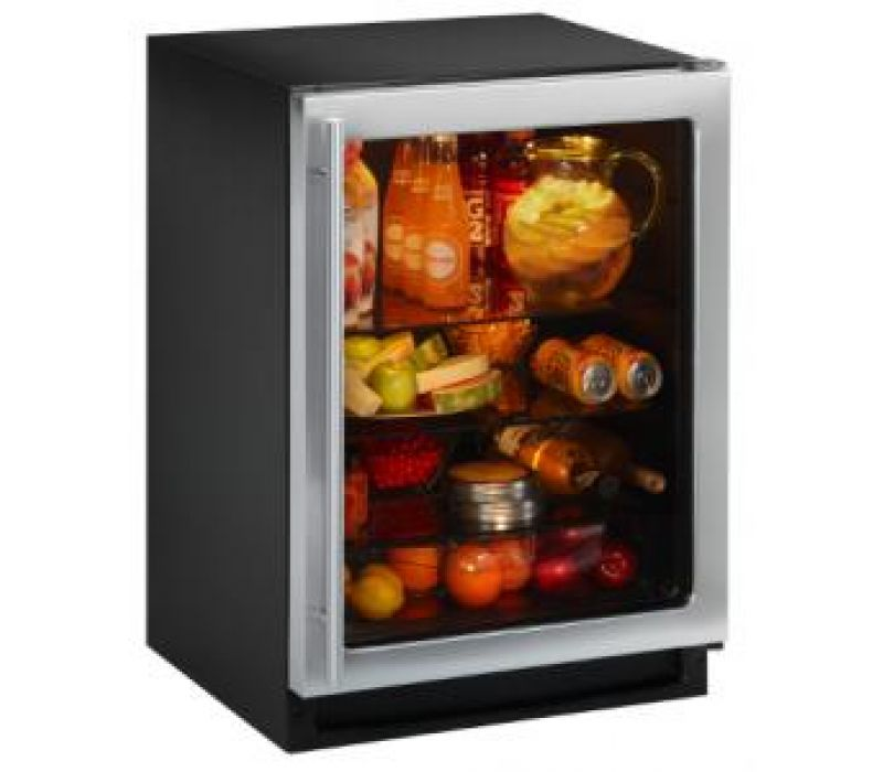 Energy Efficient Glass Door Refrigerator