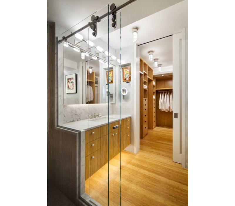 170sf Accessible/Sustainable Master Bathroom/Dressing Room for An Exhibiting Artist, NYC