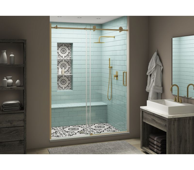 Aston Coraline Frameless Sliding Shower Door Collection: XL Class