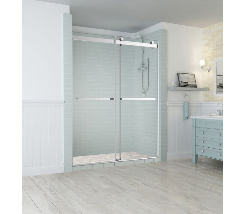 Aston Rivage Frameless Dual-Bypass Sliding Shower Door