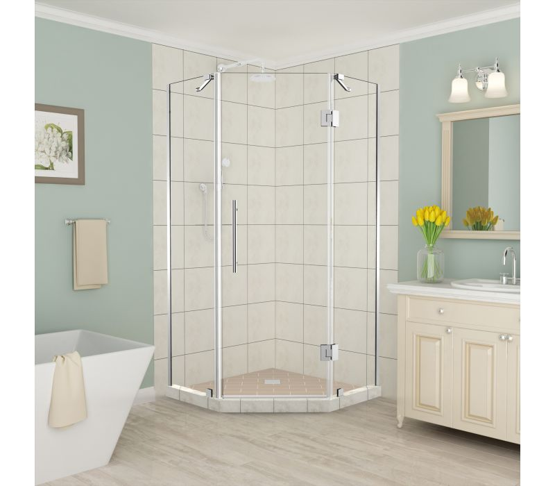 Aston Merrick Frameless Neo-Angle Hinged Shower Enclosure