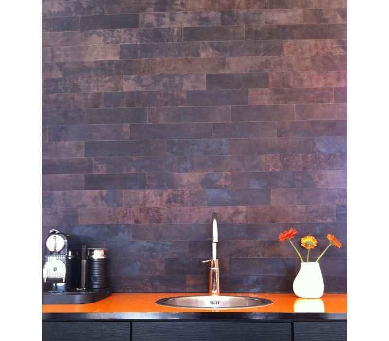 Small Strips Leather Wall Tiles